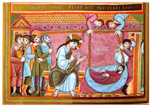 Codex Aureus Healing Of The Paralytic