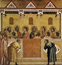 Giotto di Bondone, Pięćdziesiątnica, 1320-25, Galeria Narodowa, Londyn. Połączono ze stroną: WGA - http://www.wga.hu/art/g/giotto/z_panel/3polypty/7penteco.jpg