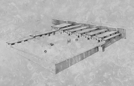 Rekonstrukcja stajni Salomona w Meggido