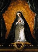 Św. Małgorzata Maria  Alaquoque Kontemplująca Najświętsze Serce Jezusa, ok 1765, kolekcja prywatna. Połączono ze stroną: WGA - http://www.wga.hu/art/g/giaquint/alacoque.jpg