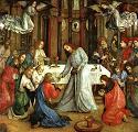 Joos van Ghent, Ustanowienie Eucharystii, ok. 1474, Pałac Książęcy, Urbino, Włochy. Pobrano ze strony: CGFA - http://cgfa.sunsite.dk/g/p-ghent1.htm
