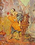 Vincent van Gogh, Dobry Samarytanin (wersja obrazu Delacroix), 1890,  Rijksmuseum Kröller-Müller, Otterlo. Pobrano ze strony: CGFA - http://cgfa.floridaimaging.com/gogh/p-gogh43.htm