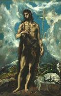 El Greco, Św. Jan Chrzciciel.