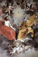 Hendrick van Balen, Trójca Święta, lata 20-ye XVIIw., Sint-Jacobskerk, Antwerpia. Połączono ze stroną: WGA - http://www.wga.hu/art/b/balen/trinity.jpg