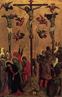 Duccio di Buoninsegna, Ukrzyżowanie, ok. 1315, Miejska Galeria Sztuki, Manchester. Połączono ze stroną: WGA - http://www.wga.hu/art/d/duccio/buoninse/9crucifi.jpg